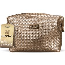 Affinage Kitoko Gold Cosmetics Bag