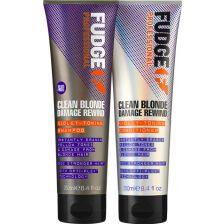 Fudge Clean Blonde Damage Rewind Violet Toning Duo