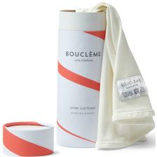 Boucleme Curl Towel in Tube with Leaflet white