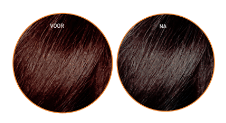 Fudge Cool Brunette Blue-Toning voor en na
